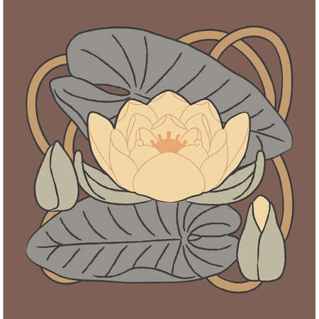 Vector floral element - Lilly Vector