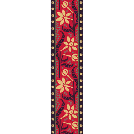 Tribal floral vector pattern, vertical design Stock Vector - 18345289
