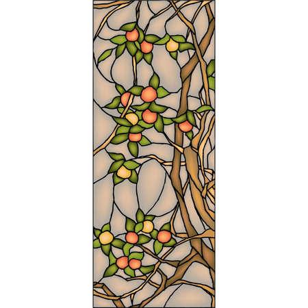 zauberhaft: Apfelbaum, Glasfenster