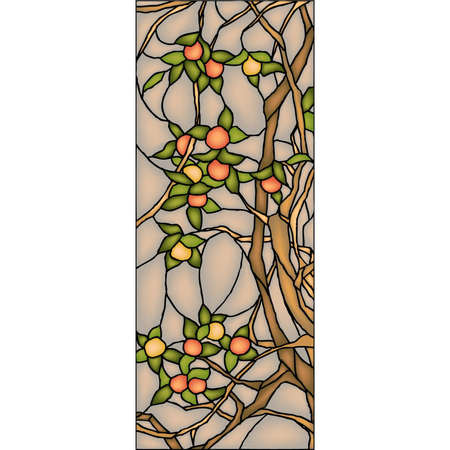 Apple tree, stained glass window Stock Vector - 19456565