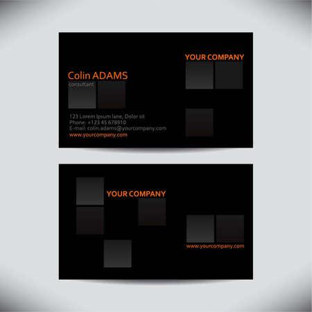 visitekaartje: Adreskaartjesjabloon - vector