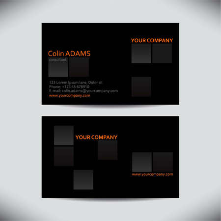 business card: Business card template - vector Illustration