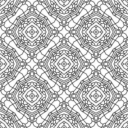 Abstract linear background, seamless pattern, vector