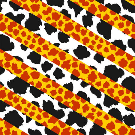 GiraffeCow pattern, Absctract spotter fur pattern, Animal background, vector