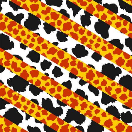 GiraffeCow pattern, Absctract spotter fur pattern, Animal background, vector