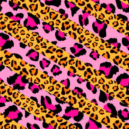 animal print: Pantera rosa y el patrón cheetahleopard, animal print, vector Vectores