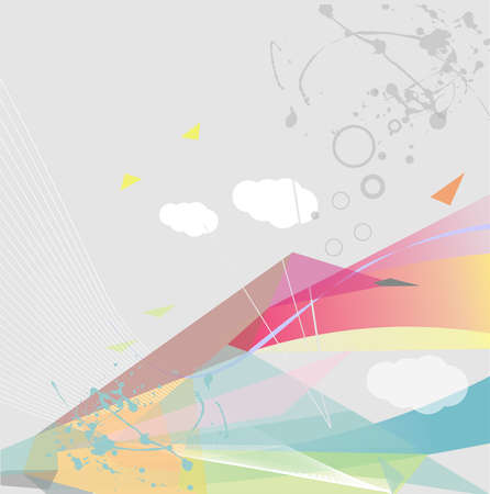Abstract geometric design, vector