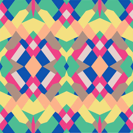 Abstract geometrical seamless pattern, vector Illustration