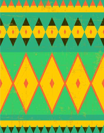 Boho geometrical seamless pattern, tribal background, vector Illustration