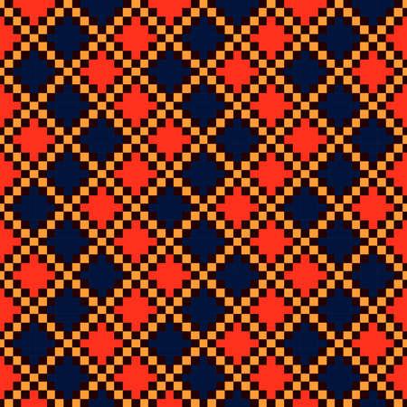 Boho seamless pattern, tribal folk ornament, vector Illustration