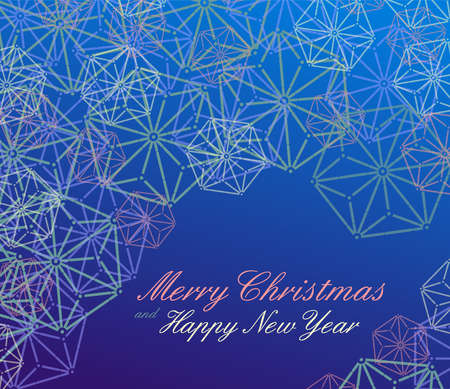 christmas stars: Merry Christmas and Happy new year design template, vector