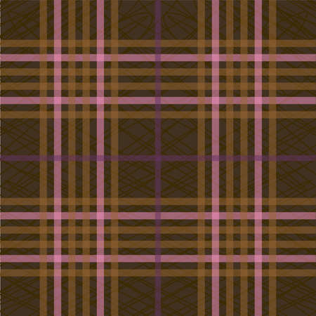 Tartan seamless pattern, 70s background, vector