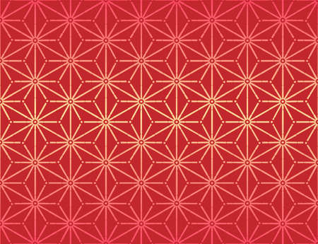 Star Japanese Chinese ornament, seamless pattern, vector Illustration