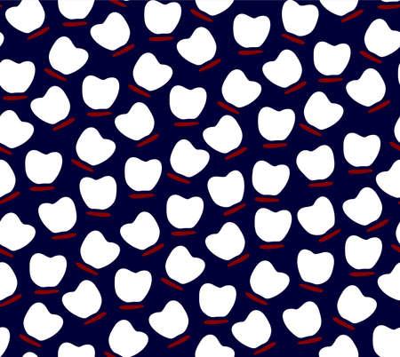 Sakura petals Cherry Blossom seamless pattern, vector