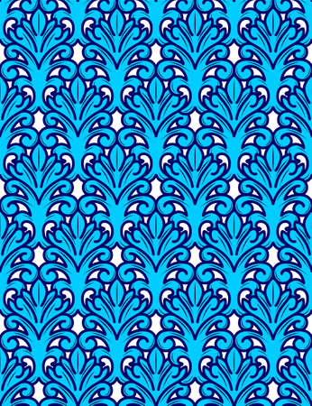 French leaf seamless pattern, floral ornament, vector Illustration