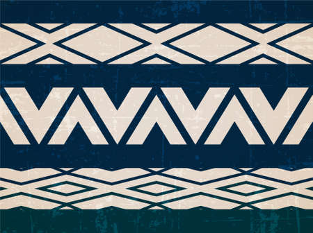 folk: Boho seamless pattern, tribal folk ornament, vector Illustration