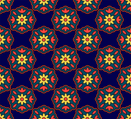 Chinese seamless floral pattern, vector