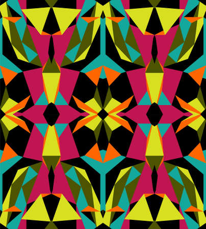 Carnival bright seamless pattern, african or brazilian ornament, vector