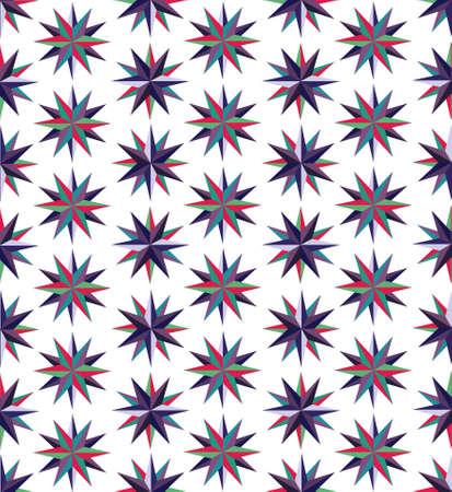 Paper stars seamless pattern Illustration