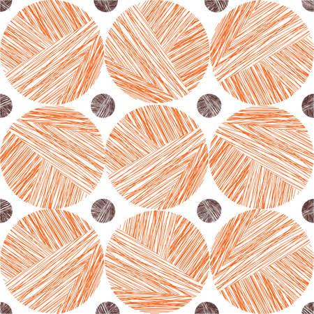 Ball of yarn seamless pattern, halloween style Illustration