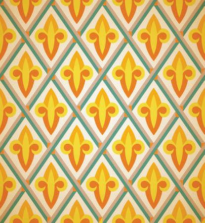 Royal lily seamless pattern, vector Illustration