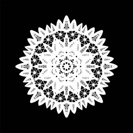 Doily crochet decor element, vector illustration Illustration