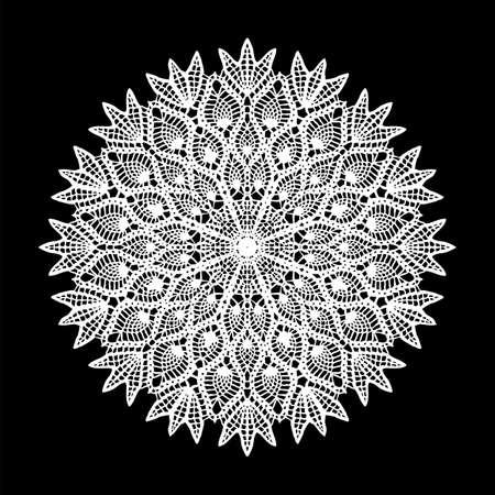 Doily ornament, round ornament, cvector design Illustration