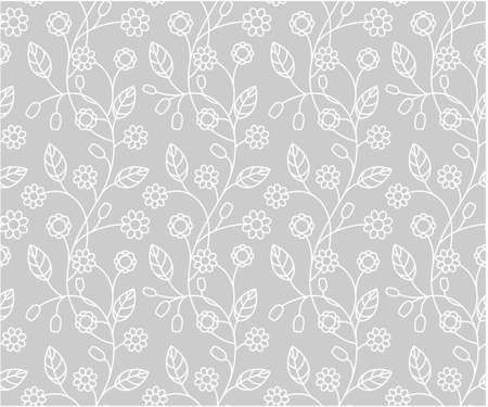 castle interior: Floral seamless pattern, vector illustrations
