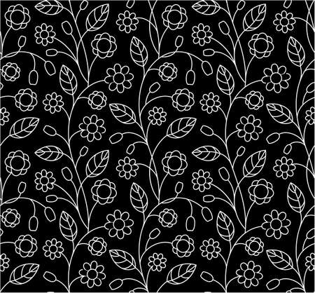 Floral seamless pattern, vector illustrations