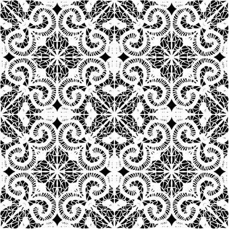 floral border: Doily seamless pattern, vector Illustration