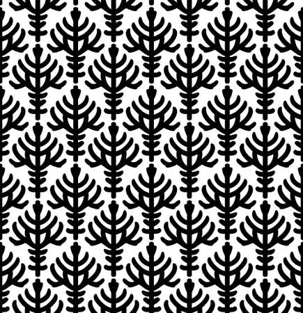 Abstract leaf seamless pattern