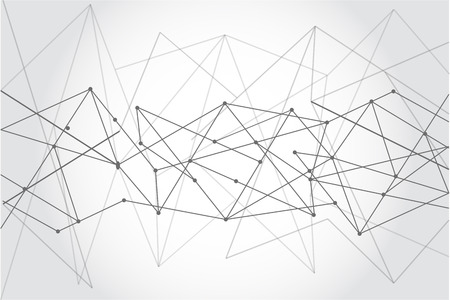 Abstract Many lines and points background, geometry wallpaper, vector design. connection concept
