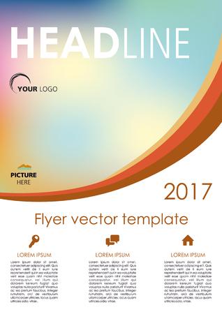 broadside: Vector flyer, corporate business, annual report, brochure design and cover presentation with orange curve Illustration