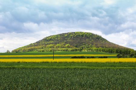 ロウドニツェ ・ ナド近く山 Rip ラベム。チェコの風景 写真素材