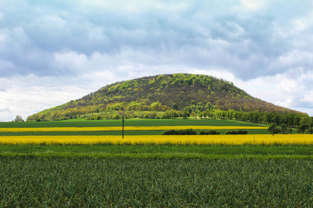 Mountain Rip near Roudnice nad Labem. Czech landscape