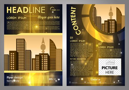 Vector flyer, corporate business, annual report, brochure design and cover presentation