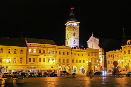 2017-07-01 - Ceske budejovice city, Czech republic - Namesti Premysla Otakara II. Cerna vez Editorial