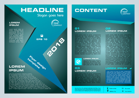 Vector flyer, corporate business, annual report, brochure design and cover presentation with blue arrow