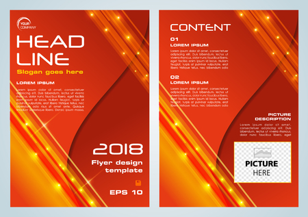 Shine vector flyer, corporate business, annual report, brochure design and cover presentation in red color.