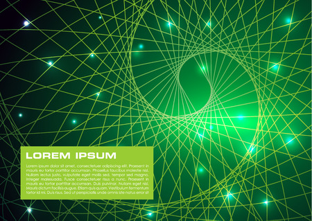 Vector abstract colorful background with green spiral to elipse