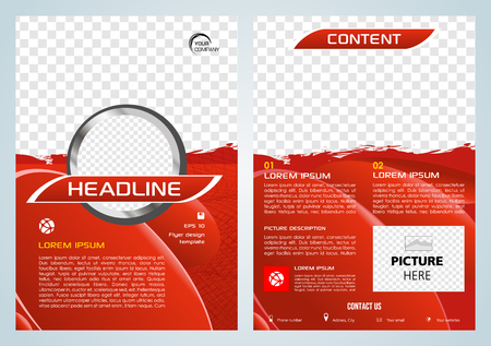 Vector flyer, corporate business, annual report, brochure design and cover presentation with red splash.