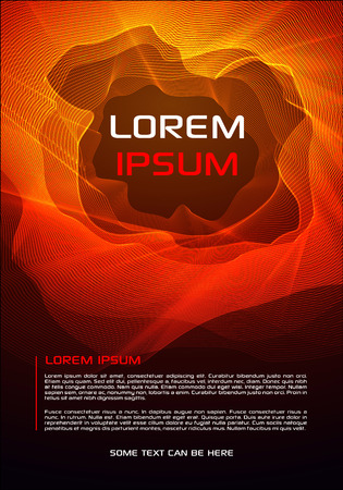 Abstract vector flyer, corporate business, annual report, brochure design and cover presentation with red waves.