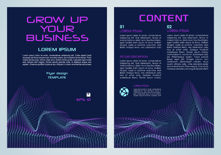 Vector flyer, corporate business, annual report, brochure design and cover presentation with violet dotted element.