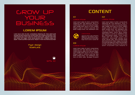 Vector flyer, corporate business, annual report, brochure design and cover presentation with yellow and red dotted element.