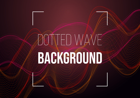 Abstract vector background with red dotted wave