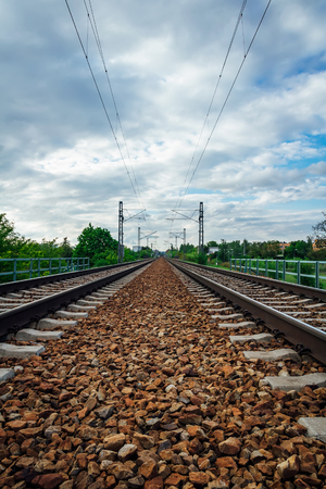 Two railroad with cloudy sky, Czech republic
