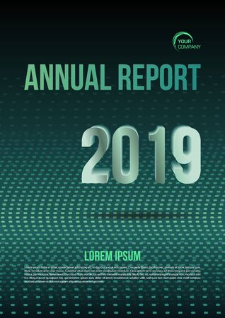 Modern vector flyer, annual report, brochure cover, background with dotted background in green color Иллюстрация