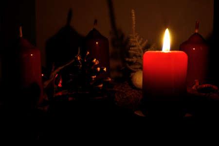 gloom: christmas wreath Stock Photo