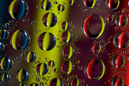 he is different: Water drops on glass Stock Photo