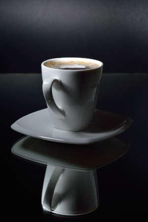 Coffee in dark background